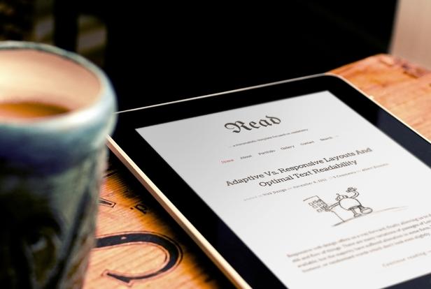 read tablet 01 - Read WP - Minimalist WordPress Blog Theme