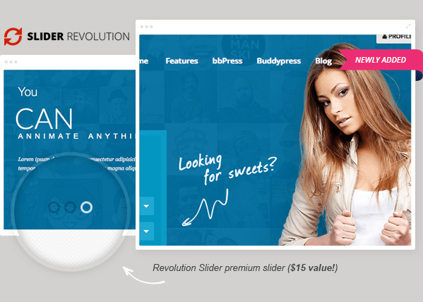 revolution slider1 - Sweet Date - More than a Wordpress Dating Theme