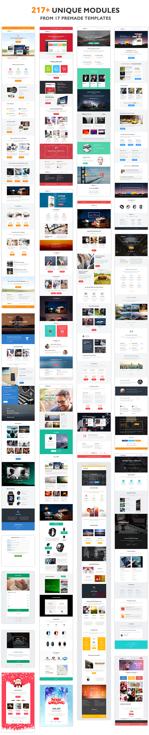 show templates - Multimail | Responsive Email Template Set + Builder Online