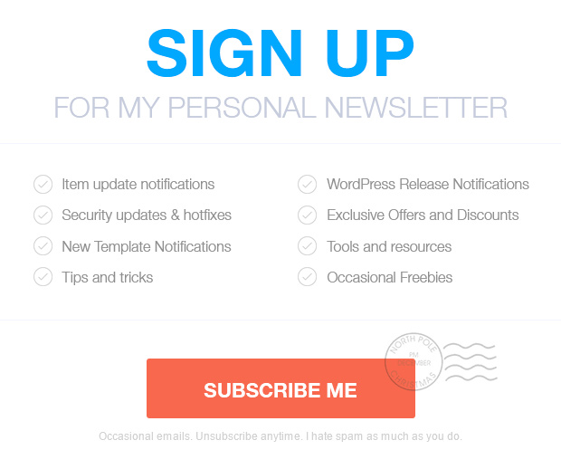 sign up newsletter - FlatHost Responsive Hosting Template with WHMCS