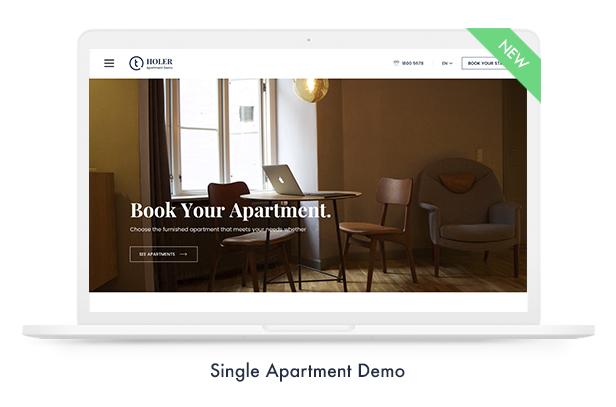 single apartment demo - Travel Booking WordPress Theme