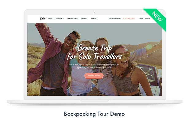 solo demo - Travel Booking WordPress Theme