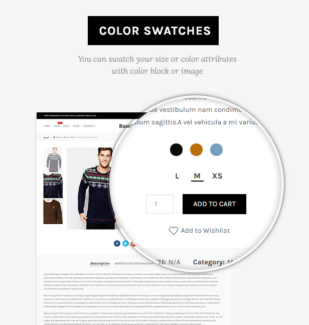 swatches - Basel - Responsive eCommerce Theme