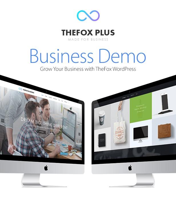 thefox business - TheFox   Responsive Multi-Purpose WordPress Theme