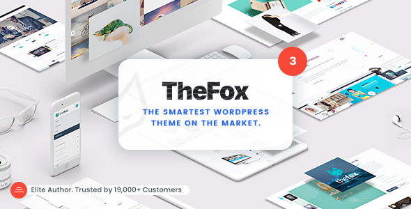 thefox wordpress theme ver3 preview img.  large preview - TheFox | Responsive Multi-Purpose WordPress Theme