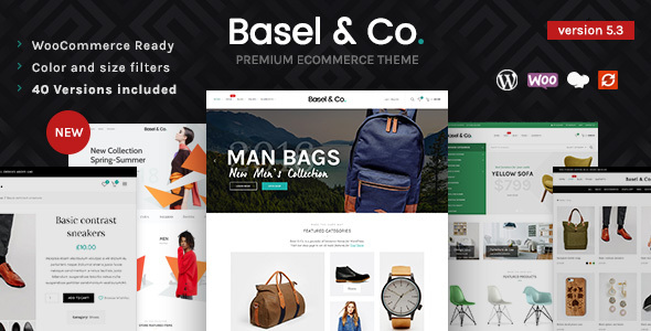theme preview.  large preview - Basel - Responsive eCommerce Theme