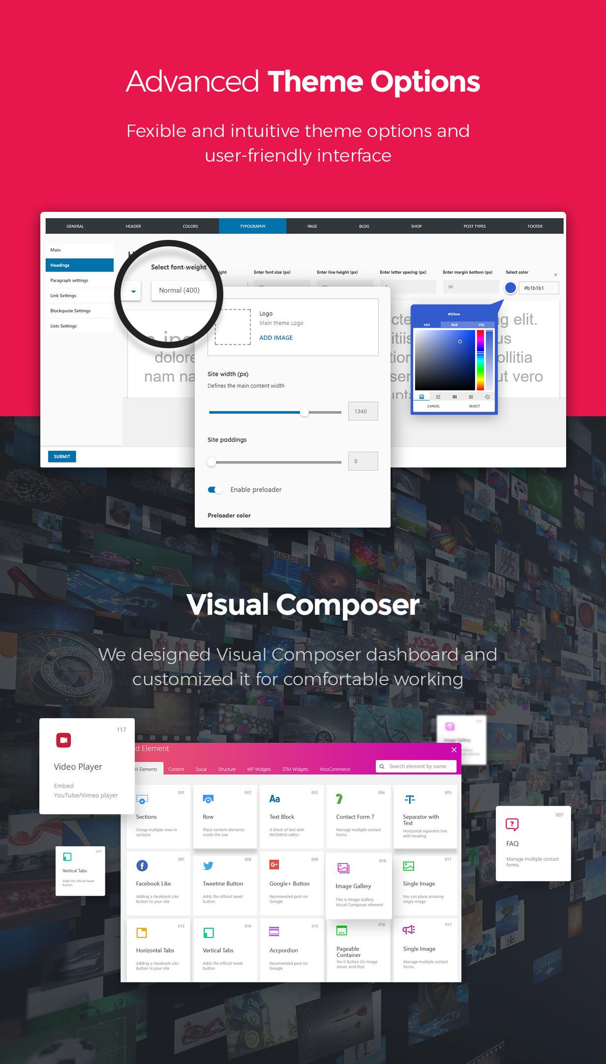 theme options - Pearl - Corporate Business WordPress Theme