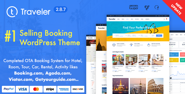 traveler preview287.  large preview - Travel Booking WordPress Theme
