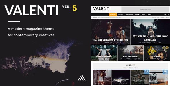 valenti preview v5 5 4.  large preview - Valenti - WordPress HD Review Magazine News Theme