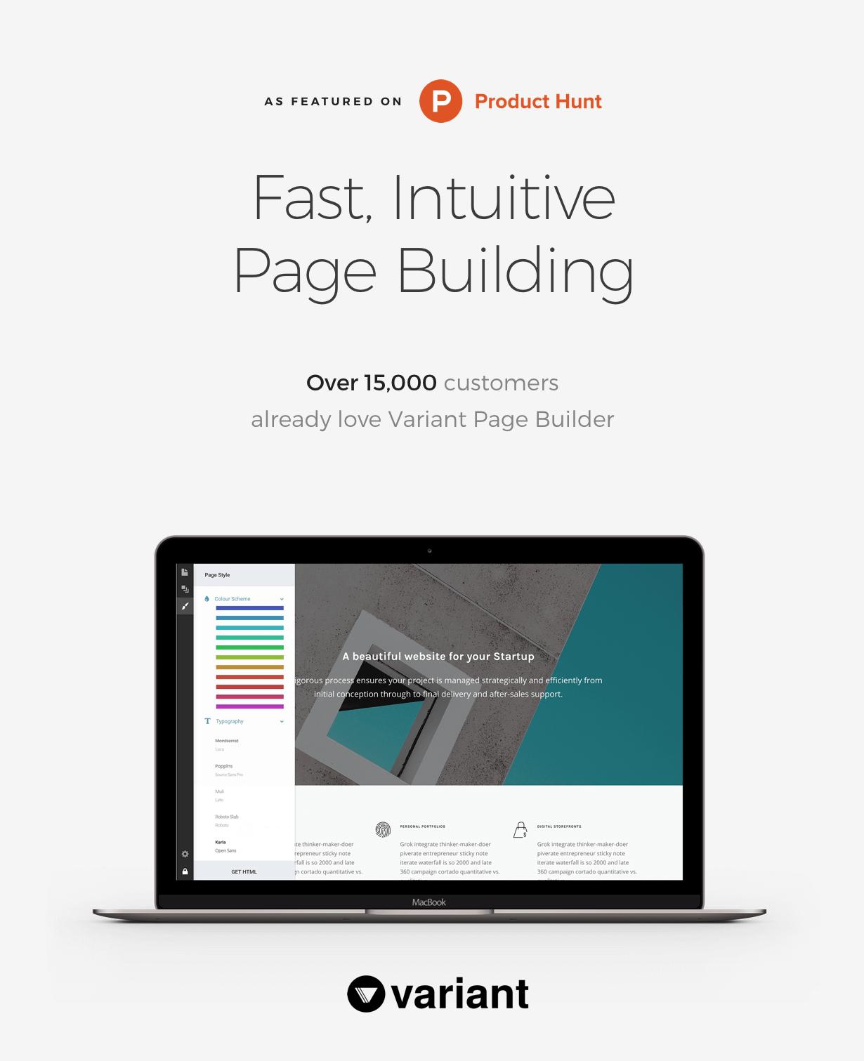 variant - Pillar Multipurpose HTML + Variant Page Builder