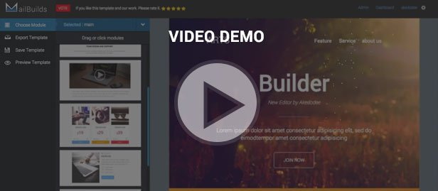 video demo - Multimail | Responsive Email Template Set + Builder Online