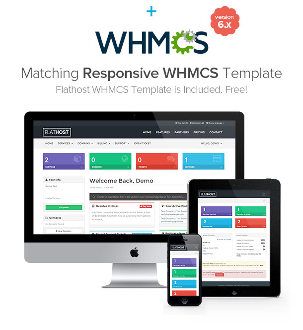 whmcs resp - FlatHost Responsive Hosting Template with WHMCS