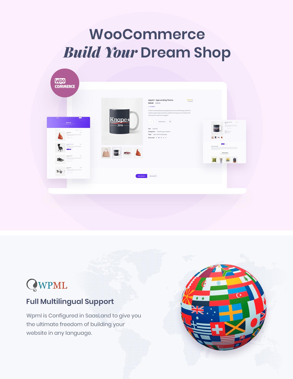 woo & wpml - Saasland - MultiPurpose WordPress Theme for Startup