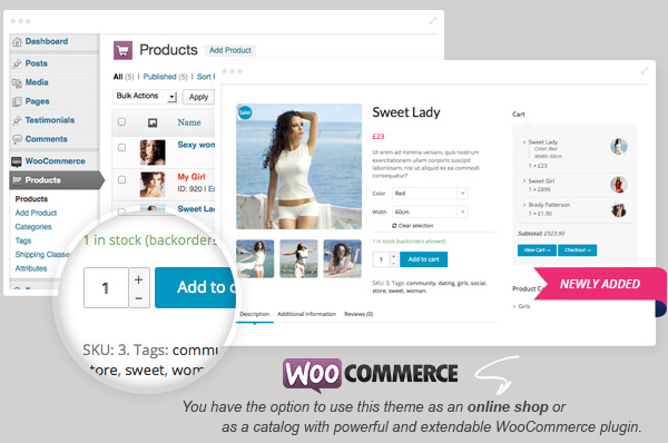 woocommerce ready - Sweet Date - More than a Wordpress Dating Theme