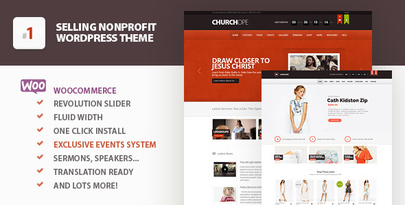 00 Preview.  large preview - ChurcHope - Responsive WordPress Theme