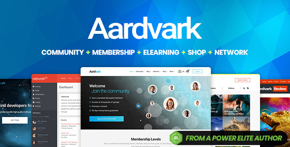 01 Aardvark Cover Image.  large preview - Aardvark - Community, Membership, BuddyPress Theme