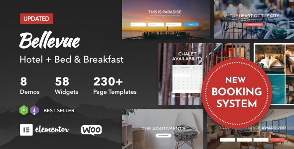 01 bellevue preview.  large preview - Hotel + Bed and Breakfast Booking Calendar Theme | Bellevue