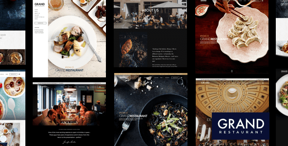 01 cover.  large preview - Grand Restaurant WordPress