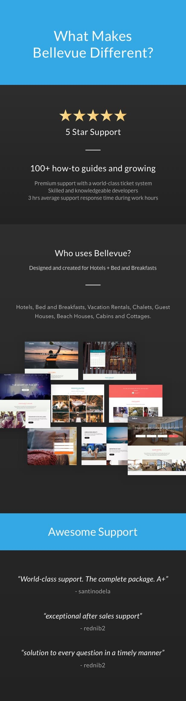06 bellevue hotel bnb wordpress theme - Hotel + Bed and Breakfast Booking Calendar Theme | Bellevue