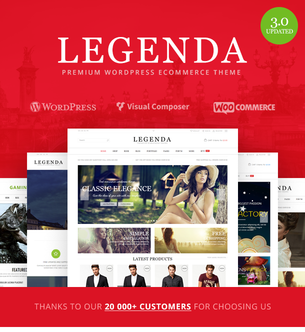 1 - Legenda - Responsive Multi-Purpose WordPress Theme