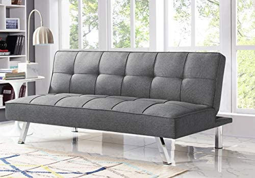 1601495512 417CuHg5j1L. AC  - Serta RNE-3S-CC-SET Rane Collection Convertible Sofa, L66.1 x W33.1 x H29.5, Charcoal