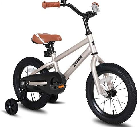 1601885596 41YSqqjV41L. AC  482x445 - JOYSTAR Totem Kids Bike with Training Wheels for 12 14 16 18 inch Bike, Kickstand for 18 inch Bike (Blue Ivory Pink Green Silver)