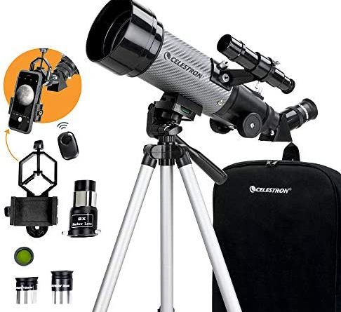 1601928882 51aSz0HgSPL. AC  486x445 - Celestron - 70mm Travel Scope DX - Portable Refractor Telescope - Fully-Coated Glass Optics - Ideal Telescope for Beginners - BONUS Astronomy Software Package - Digiscoping Smartphone Adapter