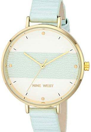 1602102187 41lZQswYZJL. AC  307x445 - Nine West Women's Vegan Leather Strap Watch, NW/2488