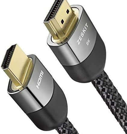 1602446918 41y5sb5hLsL. AC  422x445 - Zeskit 8K Ultra HD High Speed 48Gpbs HDMI Cable 6.5ft, 8K60 4K120 144Hz eARC HDR10 4:4:4 HDCP 2.2 & 2.3 Compatible with Dolby Vision Xbox PS4 PS5 Apple TV 4K Roku Fire TV Switch Vizio Sony LG Samsung