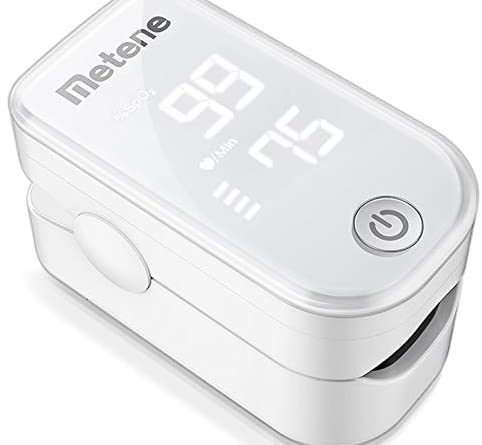1602578066 41escd9N8HL. AC  482x445 - Pulse Oximeter Fingertip, Blood Oxygen Saturation Monitor with Pulse Rate and Accurate Fast Spo2 Reading Oxygen Meter, Portable Oximeter with Lanyard and Batteries (White)