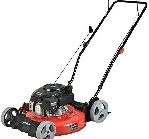 1602621892 41abLLHhVWL. AC  478x445 - PowerSmart Lawn Mower, 21-inch & 170CC, Gas Powered Push Lawn Mower with 4-Stroke Engine, 2-in-1 Gas Mower in Color Red/Black, 5 Adjustable Heights (1.18''-3.0''), DB2321CR