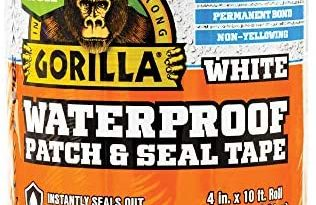 Gorilla Waterproof Patch & Seal Tape, 4″ x 10′, White (Pack of 1)