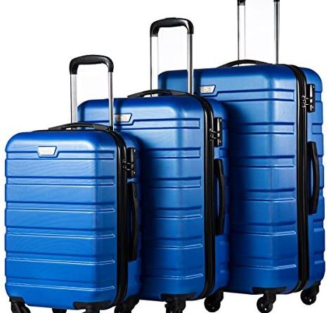 1603366316 514TNyuuIfL. AC  468x445 - COOLIFE Luggage 3 Piece Set Suitcase Spinner Hardshell Lightweight TSA Lock 4 Piece Set