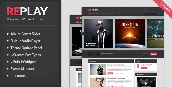 1603456390 3 preview.  large preview - Replay - Responsive Music WordPress Theme