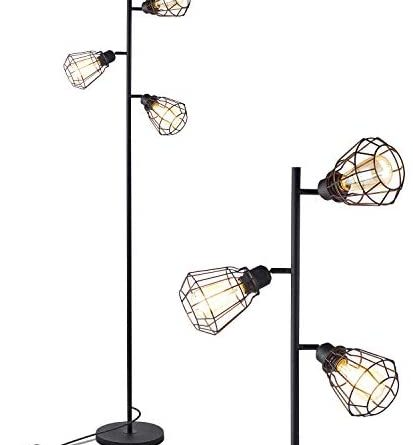 1603545013 41c8Rf6To5L. AC  413x445 - Industrial Floor Lamp, Anbomo 3 Head Torchiere Lamp Fixture for Living Room, Rustic Floor Lamp with 3 Vintage Edison Light Bulbs