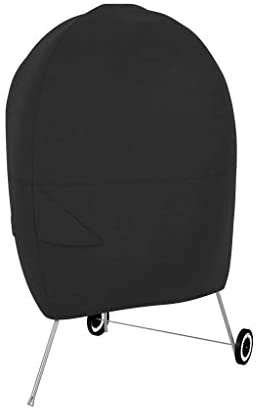 1603943346 31k6jbUbmFL. AC  - AmazonBasics Charcoal Kettle Grill Barbecue Cover, Black