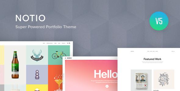 1603981320 500 01 preview.  large preview - Notio - Creative Portfolio WordPress Theme