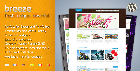 1 breeze 590 300.  large preview - Breeze - Professional Corporate and Portfolio WP