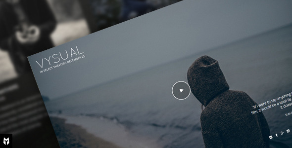 1 preview.  large preview - VYSUAL - Responsive Film Campaign WP Theme