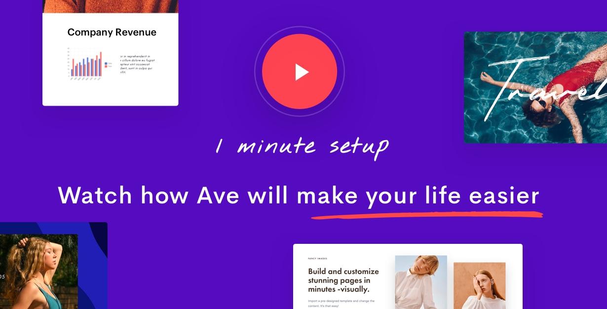 1min preview - Ave - Responsive Multi-Purpose WordPress Theme