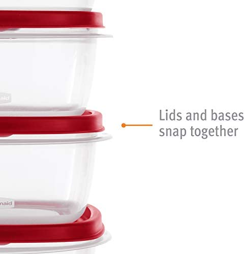 31 ES9JRjpL. AC  - Rubbermaid Easy Find Vented Lids Food Storage Containers, Set of 30 (60 Pieces Total), Racer Red