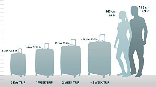 312cH9NDEsL. AC  - American Tourister Moonlight Hardside Expandable Luggage with Spinner Wheels, Rose Gold, Carry-On 21-Inch