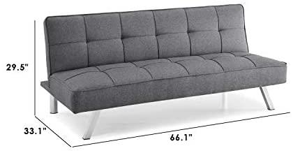 31MEJHWCXpL. AC  - Serta RNE-3S-CC-SET Rane Collection Convertible Sofa, L66.1 x W33.1 x H29.5, Charcoal