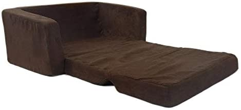31krUyu3KVL. AC  - Fun Furnishings Toddler Flip Sofa, Brown