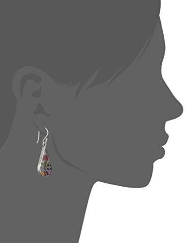 31uenqBP0CL. AC  - Sterling Silver Pressed Flower Teardrop Earrings