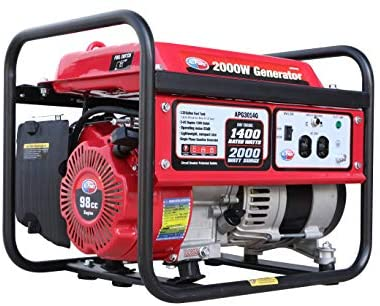 41 NIhYcTyL. AC  - All Power America APG3014G 2000 Watt Portable Generator, Gas Powered for Home Back Up, Hurricane Recovery, Black/Red