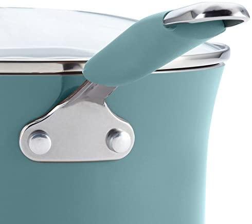 412 xDxYt8L. AC  - Rachael Ray Cucina Nonstick Cookware Pots and Pans Set, 12 Piece, Agave Blue