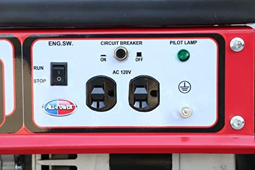 413BywqamCL. AC  - All Power America APG3014G 2000 Watt Portable Generator, Gas Powered for Home Back Up, Hurricane Recovery, Black/Red