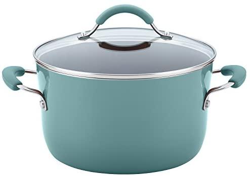 415POf3opcL. AC  - Rachael Ray Cucina Nonstick Cookware Pots and Pans Set, 12 Piece, Agave Blue