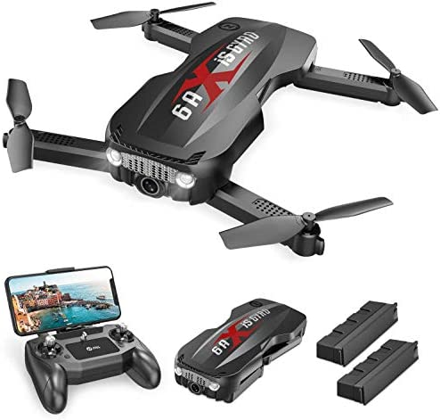 417xLcqpeyL. AC  - Holy Stone HS160 Pro Foldable Drone with 1080p HD WiFi Camera for Adults and Kids, Wide Angle FPV Live Video, App Control, Gesture Selfie, Waypoints, Optical Flow, Altitude Hold and 2 Batteries